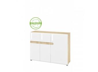 Модульная мебель для гостиной Леонардо белый полуглянец композиция 3