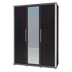 Трехстворчатый шкаф для одежды с зеркалом в спальню Наоми МН-021-03