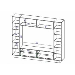 Гостиная iMeb (АйМеб) МН-401.2 белый глянец от Мебель-Неман