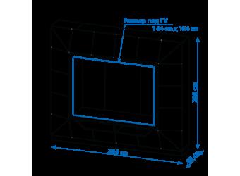 Стенка для гостиной Призма МН-023-01 от Мебель-Неман - АКЦИЯ