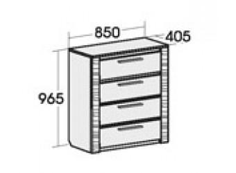 Комод для спальни Элана 850, цвет Бодега белая