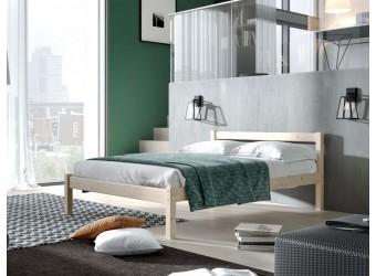 Кровать двуспальная Рино массив сосны