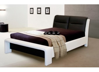 Двуспальная кровать Ларио с мягким изголовьем