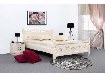 Кровать Людмила-17 ясень жемчужный с патиной