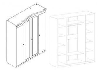 Четырехдверный шкаф для одежды Николь