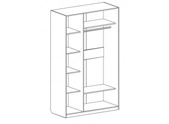 Трехдверный шкаф для одежды Николь