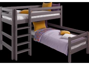 Кровать Соня Лаванда угловая вариант 7 с прямой лестницей