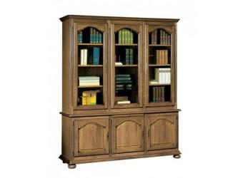 Шкаф с витриной 1230 Давиль ММ-126-12 (медовый дуб+зп)