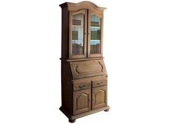 Шкаф с витриной  Давиль ММ-126-65 (медовый дуб+зп)