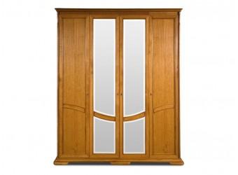 Шкаф для одежды Лика ММ-137-01/04 (медовый дуб+зп)