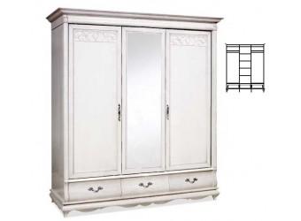 Шкаф для одежды Оскар ММ-216-01/03 (белая эмаль+пт)