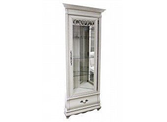 Шкаф с витриной Оскар угловой ММ-210-01У/01 (белая эмаль+пт)