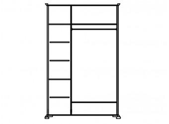 Шкаф для одежды Лика ММ-137-01/03 (белая эмаль)