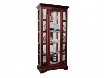 Шкаф с витриной Полонез ММ-174-01 (черешня)