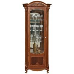 Шкаф с витриной «Альба 8» П485.08-01 (палисандр с золочением)