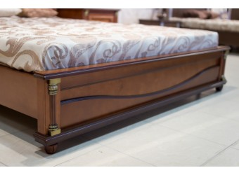 Двуспальная кровать «Валенсия 2МП» П254.53 (каштан)
