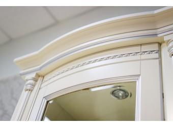 Шкаф-витрина для гостиной «Валенсия 1з» П244.14 (античная темпера с серебром)