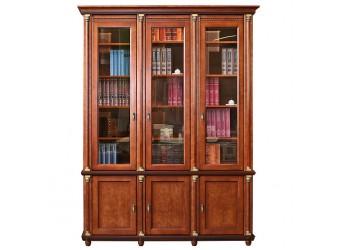 Книжный шкаф «Валенсия 3» П444.23 (каштан)