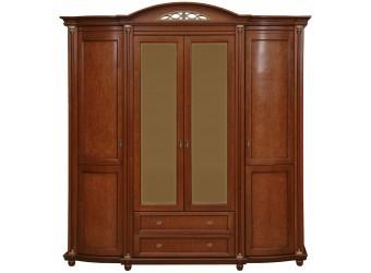 Шкаф для одежды «Валенсия 4» П254.11 (каштан)