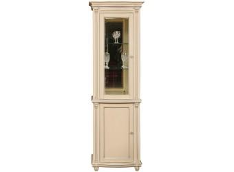 Шкаф-витрина для гостиной «Валенсия 1.1з» П244.14.1 (античная темпера с серебром)