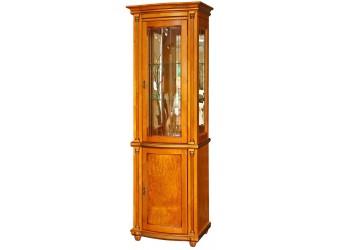 Шкаф-витрина для гостиной «Валенсия 1з» П244.14 (янтарь)
