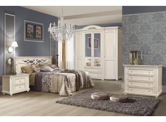 Спальня «Валенсия» 1 (античная темпера с серебром)