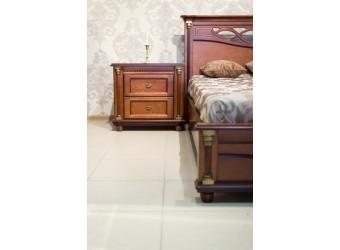 Двуспальная кровать «Валенсия 3М» П254.52 (каштан)
