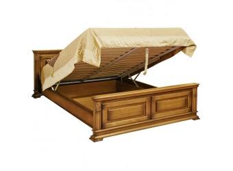 Двуспальная кровать «Верди Люкс» П434.08п с подъёмным механизмом (дуб рустикаль с патинированием)
