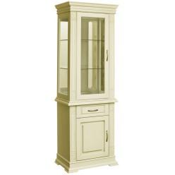 Шкаф комбинированный «Верди Люкс 1з» П487.34-01з (слоновая кость)