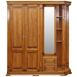 Шкаф комбинированный для прихожей «Верди Люкс 1.1» П433.01-01 (дуб рустикаль с патинированием)