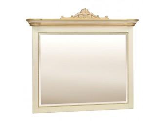 Зеркало «Алези 2 Люкс» П350.14л (слоновая кость с золочением)