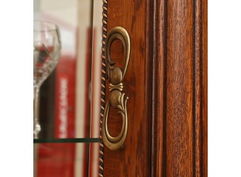 Шкаф с витриной Алези 5 Люкс П350.05л (античная бронза)