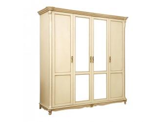 Шкаф 4-х дверный Алези П349.02 (слоновая кость с золочением)