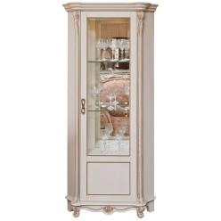 Шкаф-витрина «Алези 10» П 350.13 (слоновая кость с золочением)