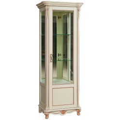 Шкаф-витрина «Алези 8» П350.08 (слоновая кость с золочением)