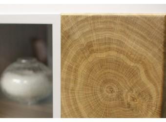 Гостиная Гелиос (дуб вотан/белый глянец) вариант 1
