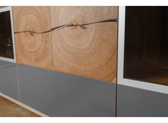 Гостиная Гелиос (дуб вотан/серый глянец) вариант 3