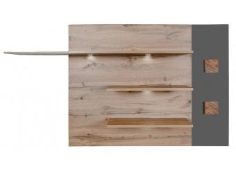 Полка настенная «Гелиос» П550.09 (дуб вотан/серый глянец)
