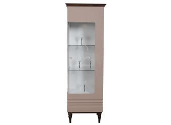 Шкаф «Ирис» П529.01 (капучино глянец/венге)