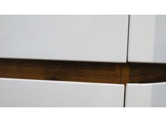 Шкаф для одежды «Монако» П542.01 (дуб саттер/белый глянец)