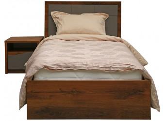 Кровать одинарная «Монако» П528.11 (дуб саттер/серый мокко)