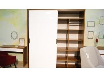 Шкаф-купе для одежды «Монако» П528.15 (дуб саттер/белый глянец)