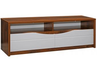 Тумба «Монако» П510.06 с подсветкой (дуб саттер/белый глянец)