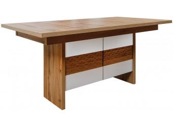 Стол обеденный «Рондо» П553.14 (дуб Вотан+белый)