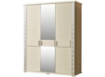 Шкаф для одежды «Тунис» П344.01 (слоновая кость с серебром)