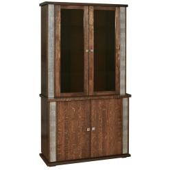 Шкаф комбинированный «Тунис» П343.17Ш (венге с серебром)