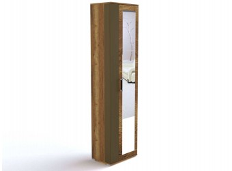 Шкаф-пенал для одежды ПХ-1-1 (ДГТ) Ханна с зеркалом