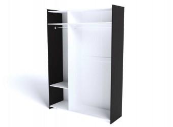 Трехстворчатый шкаф для одежды СМ-9 (ДВ) Магнолия с зеркалом