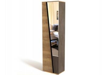 Шкаф-пенал для одежды ПС-1-1 Стреза с зеркалом