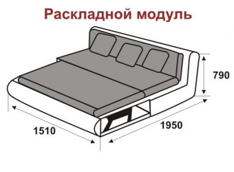 Модуль дивана Kormak (Кормак) 150Д левый